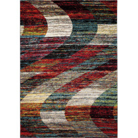 Tapis multicolore à poils court ethnique Arabian Sands