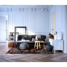 Tapis Wecon Home multicolore en polypropylène Heritage