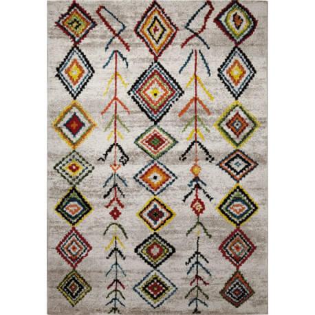 Tapis rectangulaire pour chambre multicolore Medina
