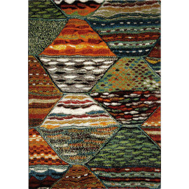 Tapis ethnique multicolore Wecon Home Atlas
