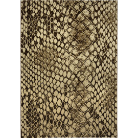 Tapis moderne à courtes mèches beige Snake