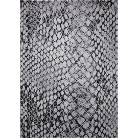 Tapis moderne à courtes mèches gris Snake