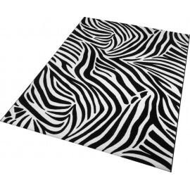 Tapis noir tufté mécanique pour chambre Zebra