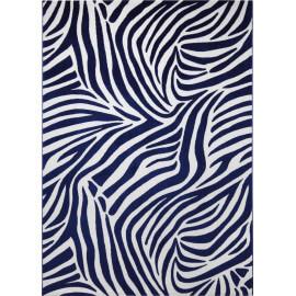 Tapis bleu tufté mécanique pour chambre Zebra