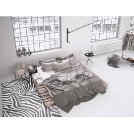 Tapis gris tufté mécanique pour chambre Zebra