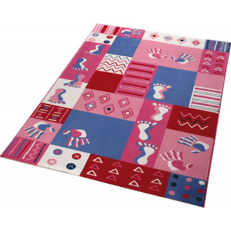 tapis pour enfant rose hands feet. Black Bedroom Furniture Sets. Home Design Ideas