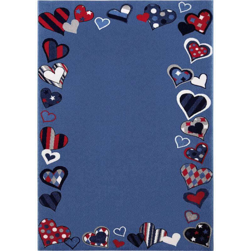 tapis de chambre enfant bleu just hearts. Black Bedroom Furniture Sets. Home Design Ideas