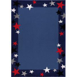 Tapis bleu pour chambre enfant Just Stars