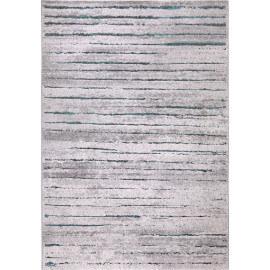 Tapis à motifs rayés turquoise de salon Woodland