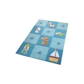 Tapis bleu pour chambre de bébé Newborn