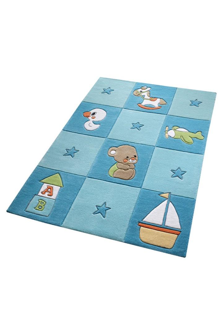Tapis bleu pour chambre de b b newborn for Tapis pour chambre de bebe