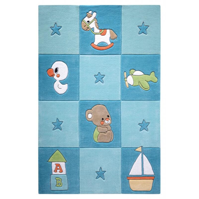 tapis bleu pour chambre de b b newborn. Black Bedroom Furniture Sets. Home Design Ideas