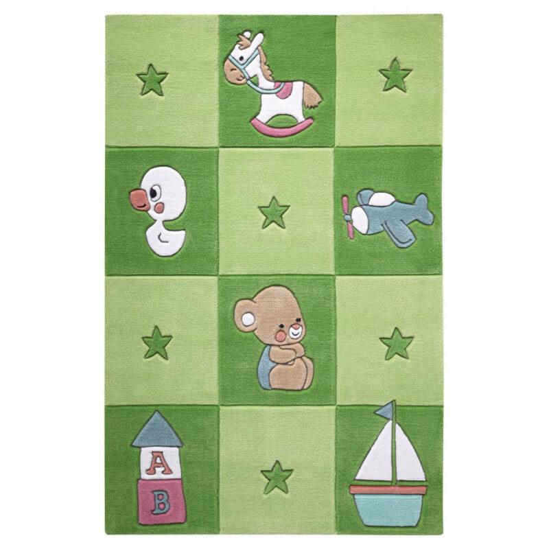 Tapis vert pour chambre de b b newborn - Tapis de chambre enfant ...