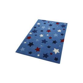 Tapis Smart Kids tufté main bleu Simple Stars