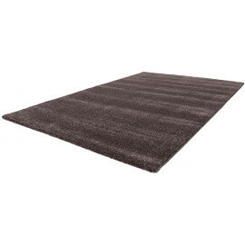 Tapis de salon marron shaggy style design Paolo