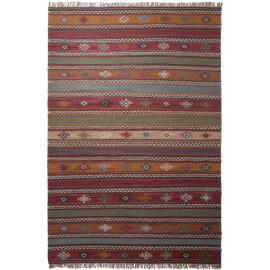 Tapis à franges en laine multicolore Jaipur Esprit Home