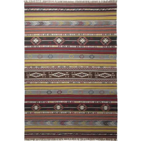 Tapis plat ethnique multicolore Mahal Esprit Home