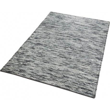 Tapis gris d 39 inde en laine et coton reflection esprit home for Refection pelouse prix