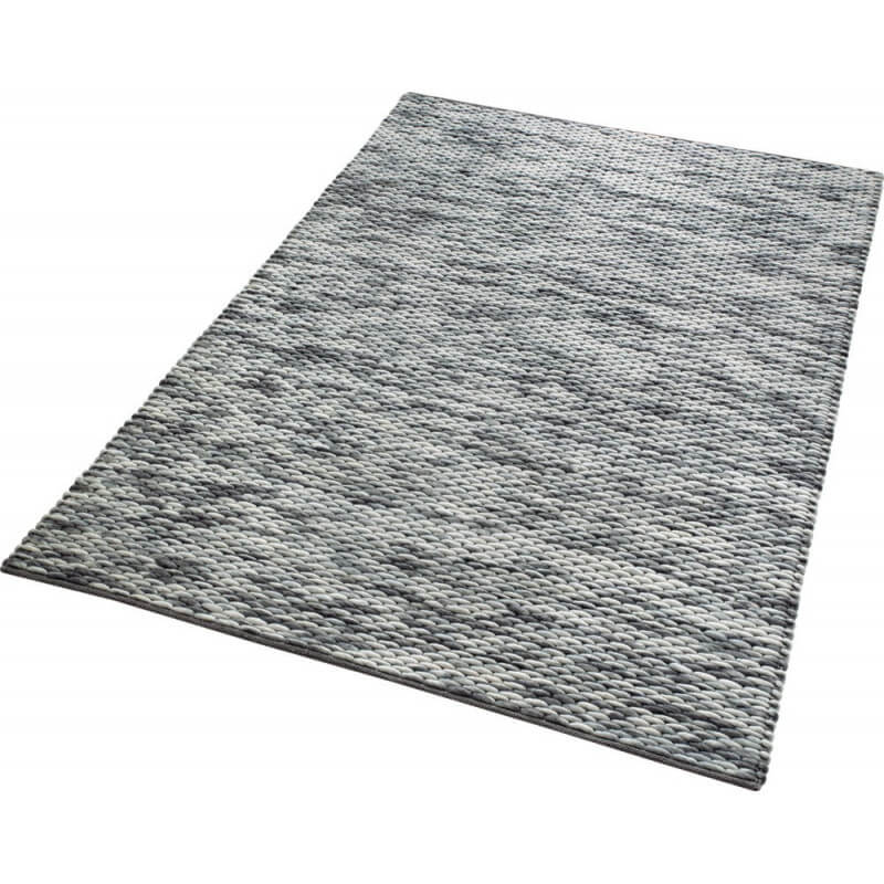 tapis gris d 39 inde en laine et coton reflection esprit home. Black Bedroom Furniture Sets. Home Design Ideas