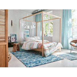 Tapis bleu d'Inde en laine et coton Reflection Esprit Home