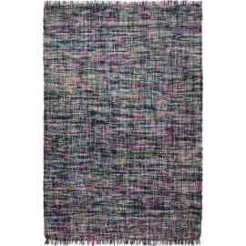 Tapis pour chambre en pure laine bleu Purl Esprit Home