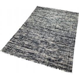 Tapis pour chambre en pure laine noir Purl Esprit Home