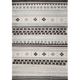 Tapis du Népal en pure laine gris Ethnic Chic Esprit Home