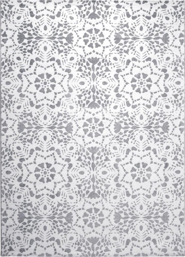 Tapis moderne blanc tissé mécanique Mysteria Esprit Home