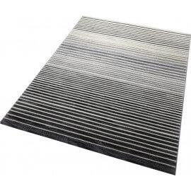 Tapis gris rayé à courtes mèches Nifty Stripes Esprit Home