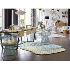 Tapis design vert pour salon Graphic Jungle Esprit Home