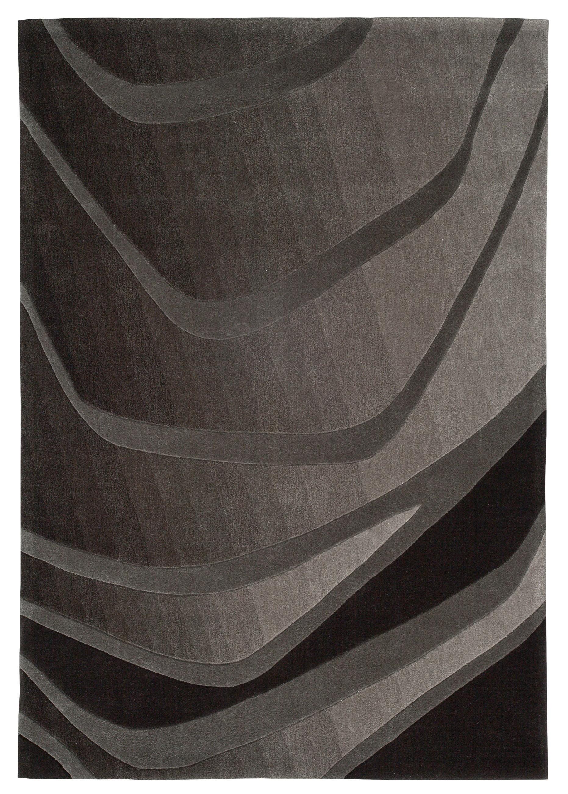 Tapis noir In Motion par Arte Espina