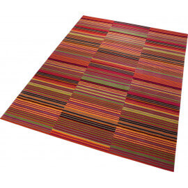Tapis Colorpop rayé rouge tufté main Esprit Home
