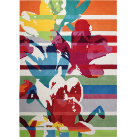 Tapis en acrylique à courtes mèches multicolore Floria Esprit Home
