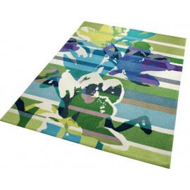 Tapis en acrylique à courtes mèches vert Floria Esprit Home