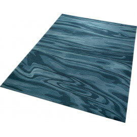 Simple tapis bleu tuft main moderne deep water esprit home with tapis bambou grande taille - Tapis bambou grande taille ...