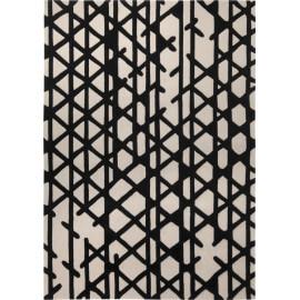Tapis noir et blanc géométrique Artisan Pop Esprit Home