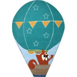Tapis montgolfière bleu pour chambre d'enfant Balloon Esprit Home