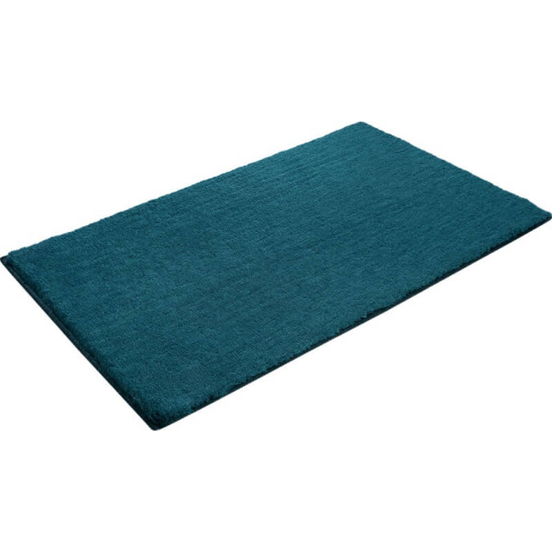 tapis en polyester turquoise pour salle de bain softy. Black Bedroom Furniture Sets. Home Design Ideas