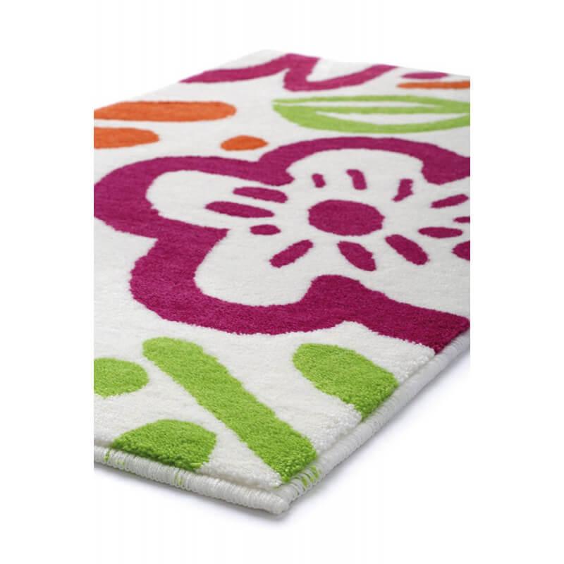tapis floral pour salle de bain multicolore cool flower. Black Bedroom Furniture Sets. Home Design Ideas