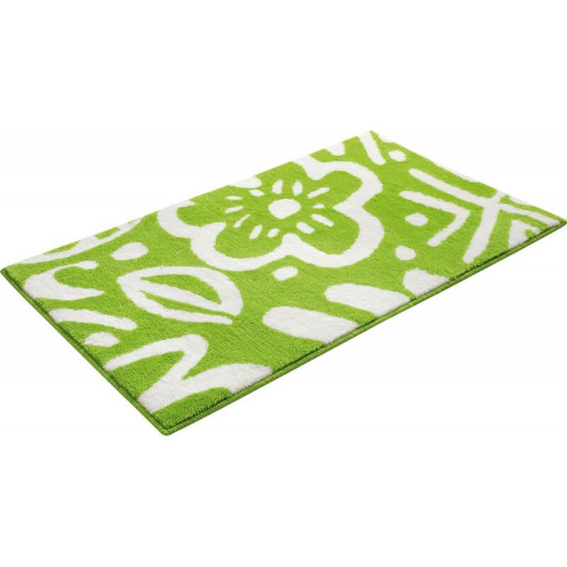 tapis floral pour salle de bain vert cool flower esprit home. Black Bedroom Furniture Sets. Home Design Ideas