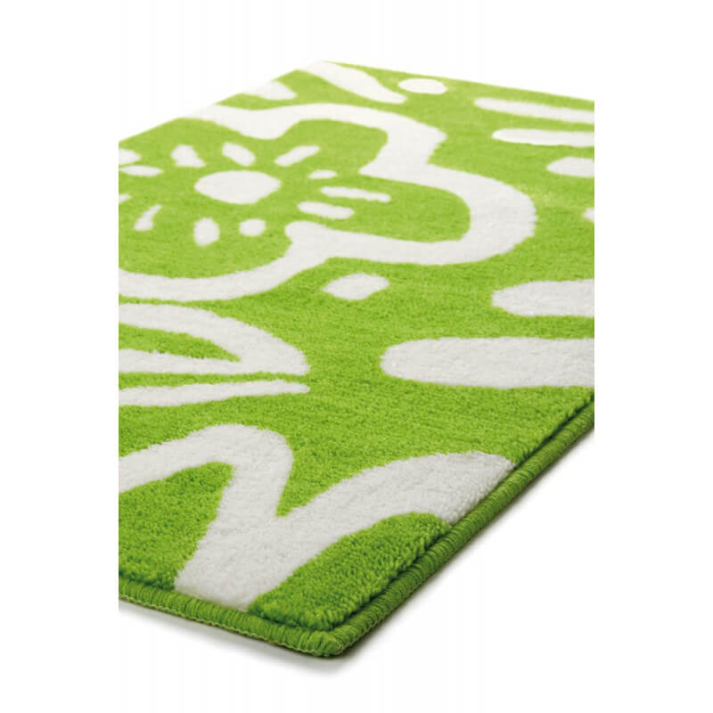 tapis floral pour salle de bain vert cool flower esprit home. Black Bedroom Furniture Sets. Home Design Ideas
