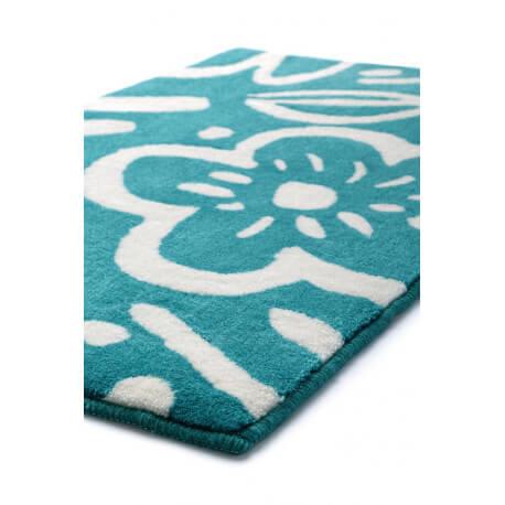 tapis floral pour salle de bain turquoise cool flower esprit home. Black Bedroom Furniture Sets. Home Design Ideas