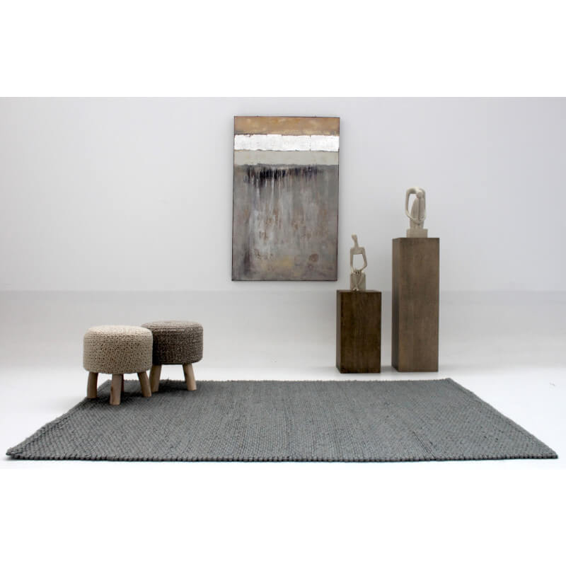 tapis gris clair en laine pour salon auckland. Black Bedroom Furniture Sets. Home Design Ideas