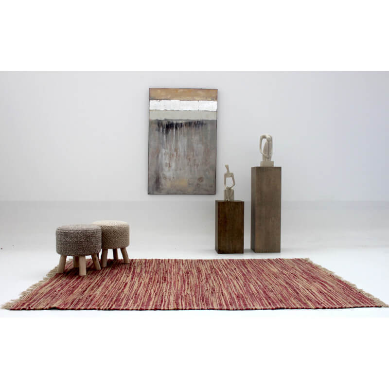 tapis naturel d 39 int rieur rouge pour salon rabat. Black Bedroom Furniture Sets. Home Design Ideas