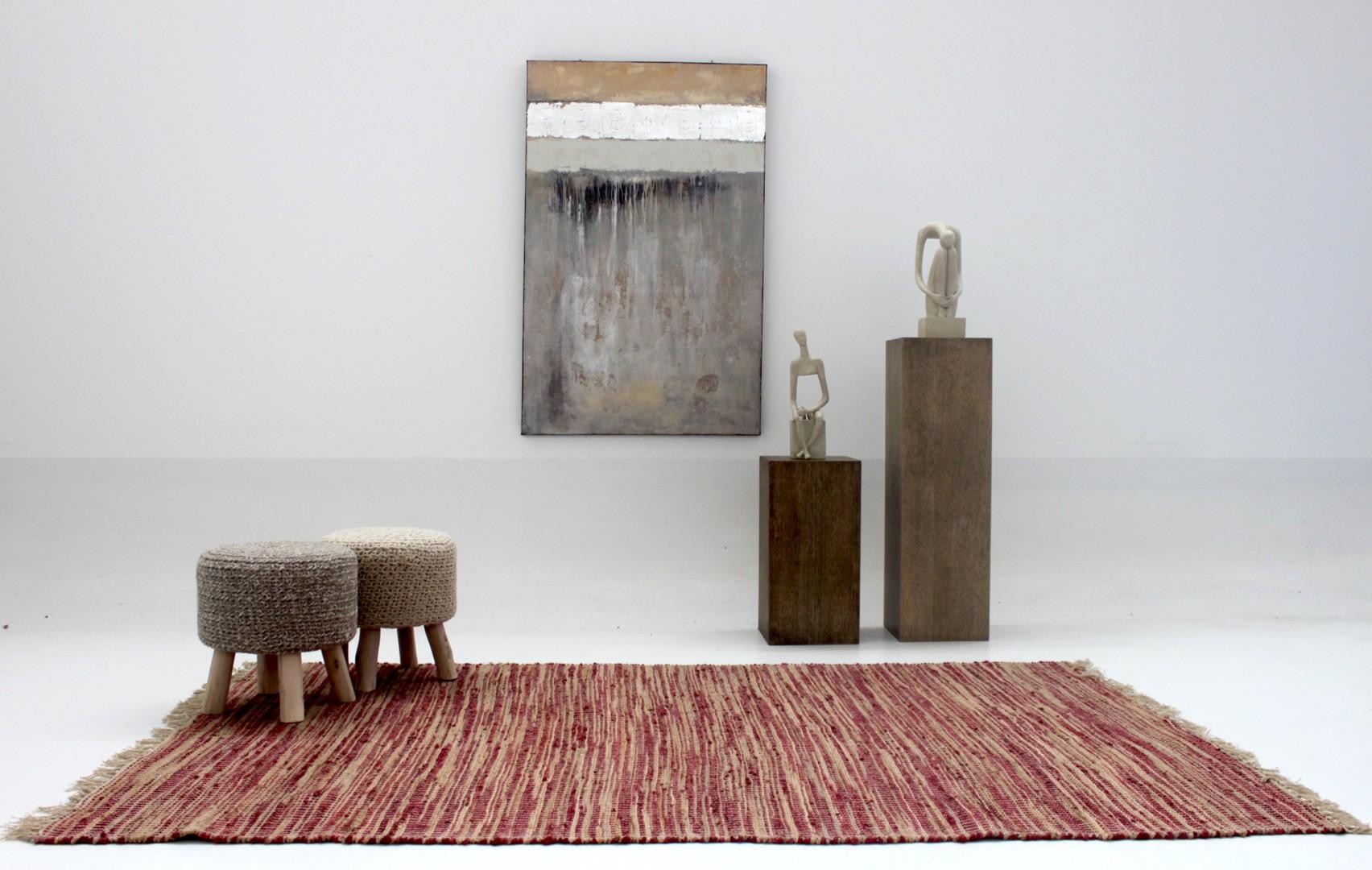 tapis naturel d 39 int rieur rouge pour salon rabat. Black Bedroom Furniture Sets. Home Design Ideas
