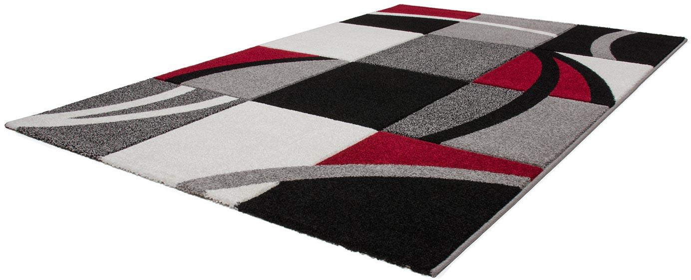 Tapis Moderne Rouge Avec Effet 3d Dinard