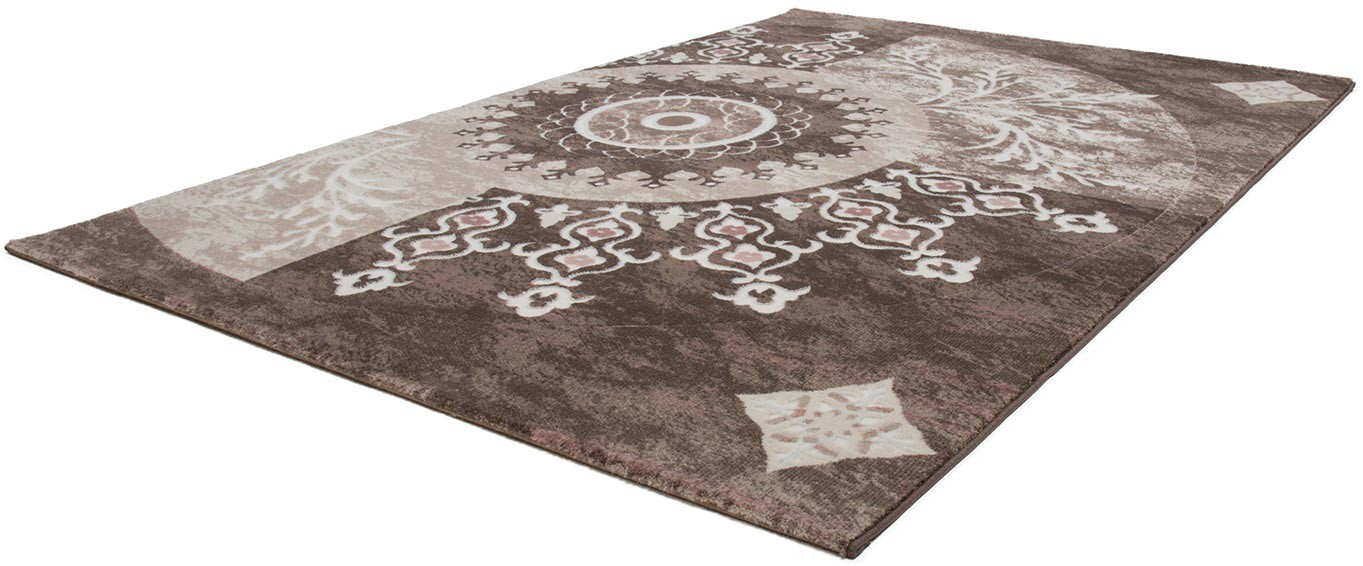 tapis vintage beige de salle manger avec lurex florine. Black Bedroom Furniture Sets. Home Design Ideas