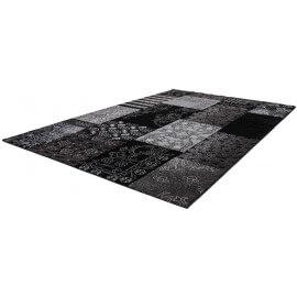 Tapis effet 3D noir vintage pour chambre Avorio