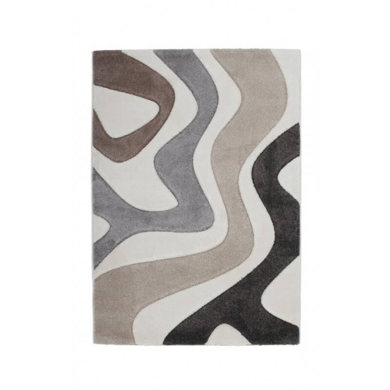 tapis en polypropyl ne taupe design maxine. Black Bedroom Furniture Sets. Home Design Ideas
