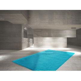 Tapis en coton fait main pour chambre turquoise Prato